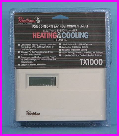 * RobertShaw Energy Manager Programmable TX1000 Heating