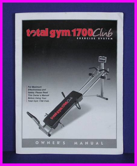 genuine original total gym 1700 club exercise system total gym 1000 exercise manual total gym exercise manual free download